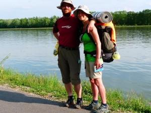Duna parton a vándorok