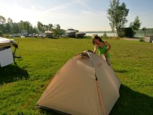 Romantikus sátrazás a Dunaparton - a Lafuma jóvoltából