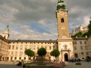 Salzburg óváros - gyülekeznek a felhők