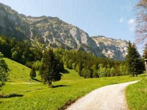 Svájci táj Sargans után