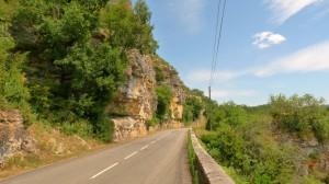 Partmenti út a Lot völgyében