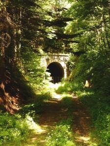 Régi vasúti alagút - sínek nélkül