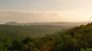 A Fátimát körülölelő hegyek hajnalban